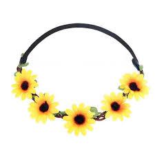 sunflower headband sunflower headband white