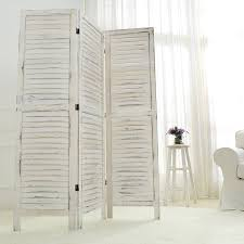 amazon com mygift whitewashed wood 3 panel screen folding