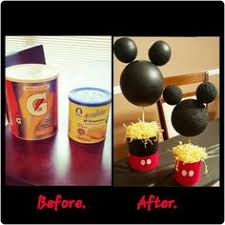 diy mickey mouse centerpieces i made for my son u0027s 1st birthday