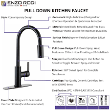 What To Look For In A Kitchen Faucet Enzo Rodi Erf7257292ha 10 Pull Down Kitchen Faucet Nobel Bronze