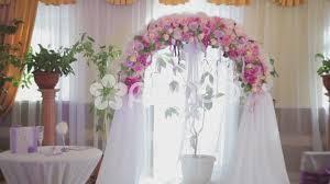 indoor wedding arch stock wedding arch with flowers indoor 40861919