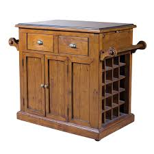 furniture brown wooden kitchen island lowes with drawers and sink