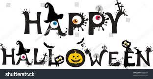 white halloween background happy halloween text isolated on white stock vector 87058007