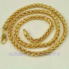 gold solid necklace images 23 4 quot inch 59 5cm 6mm 55g real 18k yellow gold plated necklace jpg