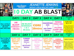10 day ab blast challenge jeanette jenkins