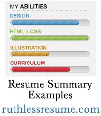 resume summary examples the ruthless resume