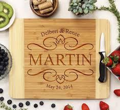 engraved cutting board engraved cutting board with big last name established date