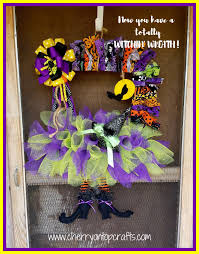 Halloween Wreath Witch Legs Bewitching