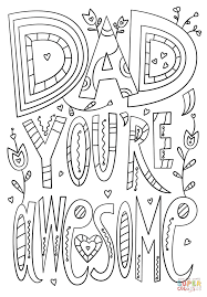 dad you u0027re awesome coloring page free printable coloring pages