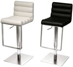 Black Leather Bar Stool Buy Riva Black Leather Bar Stool With Stainless Steel Base Online