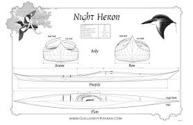 night heron kayak plans guillemot kayaks small wooden boat designs