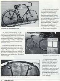 i d my columbia military model the classic and antique bicycle