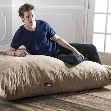 jaxx 5 5 u0027 pillow saxx foam bean bag pillow microsuede camel free
