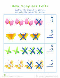 subtraction subtraction worksheets using counters free math