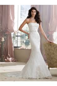 fitted wedding dresses fitted mermaid strapless lace beaded wedding dress with crystals