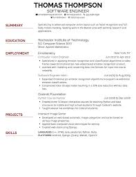Best Google Resume Templates by Cv Template By Skills