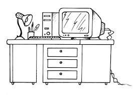 dessin de bureau coloriage bureau avec un ordinateur img 21336