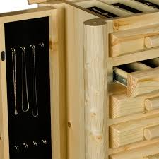 rustic jewelry armoire rustic pine log jewelry chest the log furniture store