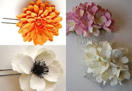 flower accessories estilo weddings chic clay floral hair accessories for your