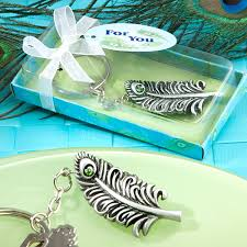peacock favors peacock feather keychain favors wedding favor key chains