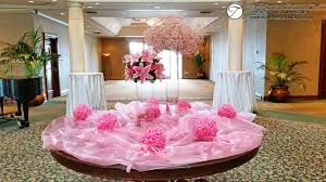 wedding flowers montreal lilies baby s breath flower arrangements at the entrance to