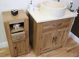 solid oak bathroom furniture slim small cabinet cupboard storage