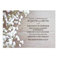 wedding card for floral baby s breath rustic summer simple wedding card zazzle