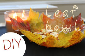 diy leaf bowl fall home decor youtube