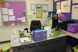 Teacher Desk Organization by We Teach High School August 2015