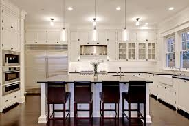 Kitchen Colors With White Cabinets Country White Kitchen Design With Luxury Great Pendant Lamp
