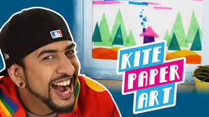 mad stuff with rob how to make kite paper art diy craft for