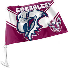 Car Window Flags Manly Sea Eagles Nrl Team Logo Car Window Flag Flags Nrl Guy Stuff