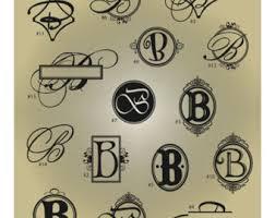 Monogram Letter B Monogram B Etsy