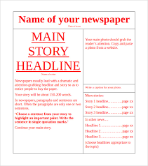 free newspaper layout template indesign resume newspaper template doc fitfloptw info