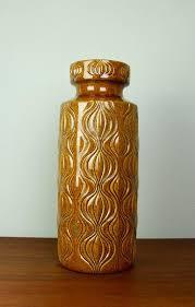 Large Brown Floor Vase Large West German Floor Vase U0027amsterdam U0027 Deco By Scheurich Pottery