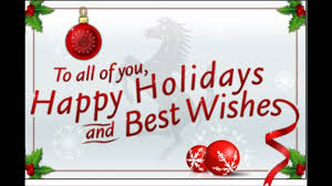 happy holidays and best wishes to all my friends