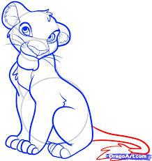 draw simba lion king step step disney characters