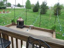 backyard string lights pole home outdoor decoration