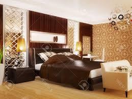 Brown Wood Bed Frame Luxury Bedroom Design Modern L Wall Color Schemes