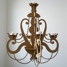 Cheap Fake Chandeliers Tea Light Chandelier Cardboard Chandelier Candle Chandelier
