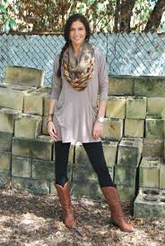 scarf look with tan boots back to college girls http