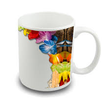 mug design custom printed photo mug with sand and flower design sprinklecart