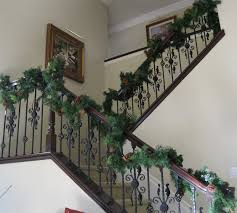 Banister Christmas Garland C B I D Home Decor And Design Christmas Decor Garlands