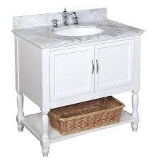 36 Inch Vanity Cabinet Kitchen Bath Collection Kbc005wtcarr Beverly Bathroom Vanity With