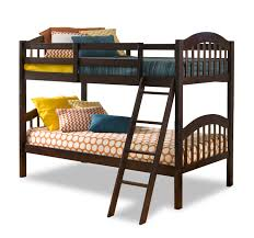 Storkcraft Long Horn Twin Over Twin Solid Hardwood Bunk Bed - Long bunk beds