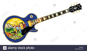 Montana State Flag The Definitive Rock And Roll Guitar With The Montana State Flag