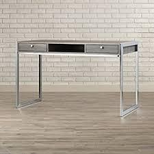 wood and metal writing desk amazon com pan wood and metal writing desk with drawers weathered
