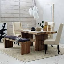 Wooden Dining Table With Chairs Tufted Dining Bench Cushion West Elm