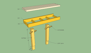 Free Wood Park Bench Plans by Deck Bench Plans Free Howtospecialist How To Build Step By