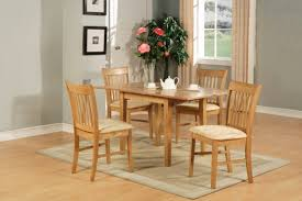 retro dining room style with 4 pieces wooden light brown small
